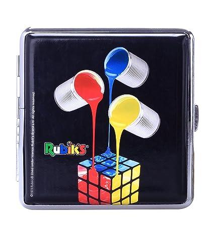 Pitillera cubo de Rubik, tres cubos de colores
