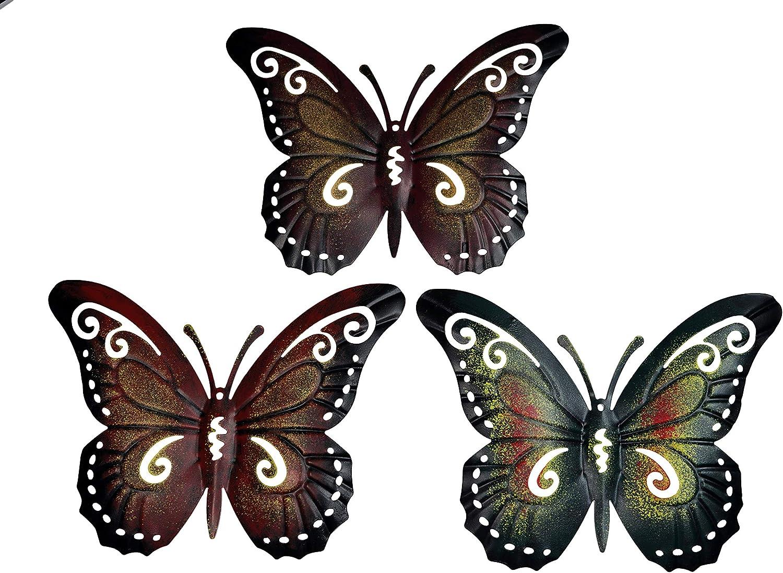 khevga metal butterfly wall decor - butterfly wall decorations set of 3
