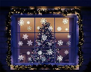Heekpek 42 Stk Schneeflocken Selbstklebend Fensterschmuck