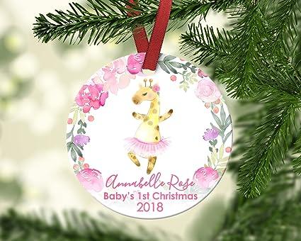 dozili babys first christmas ornament baby giraffe christmas ornament personalized christmas ornament babys first christmas