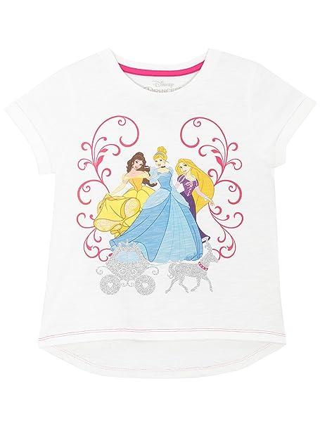 7a63a922ede330 Disney - Maglietta a maniche corte per ragazze - Disney Principesse - 2 - 3  Anni