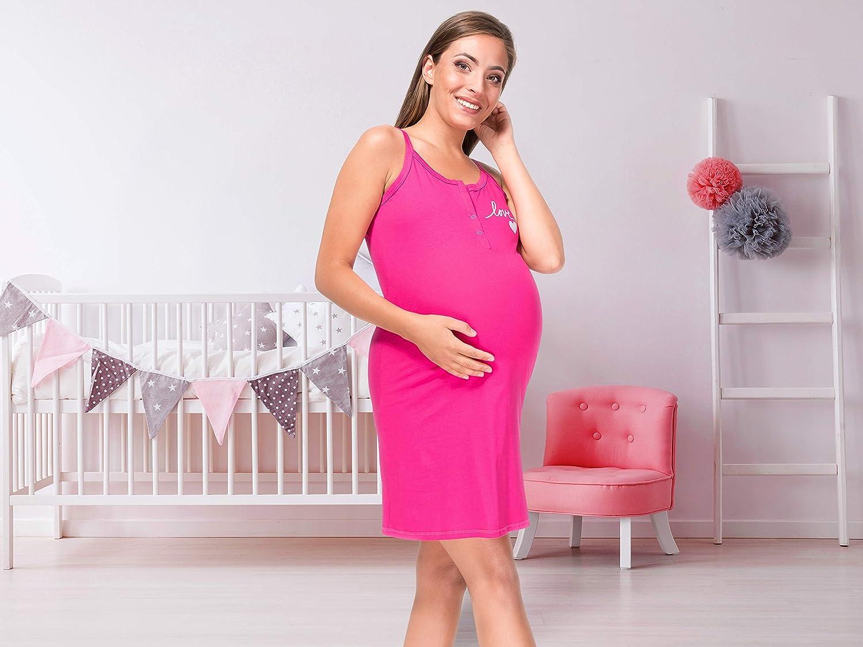 Sibinulo Camicia da Notte di maternit/à Allattamento Premaman 2 Colori