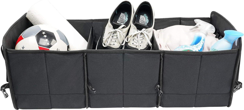 BCAuto Organisateur de Coffre XXL Pliable Taille r/églable Oxford 600 D Noir