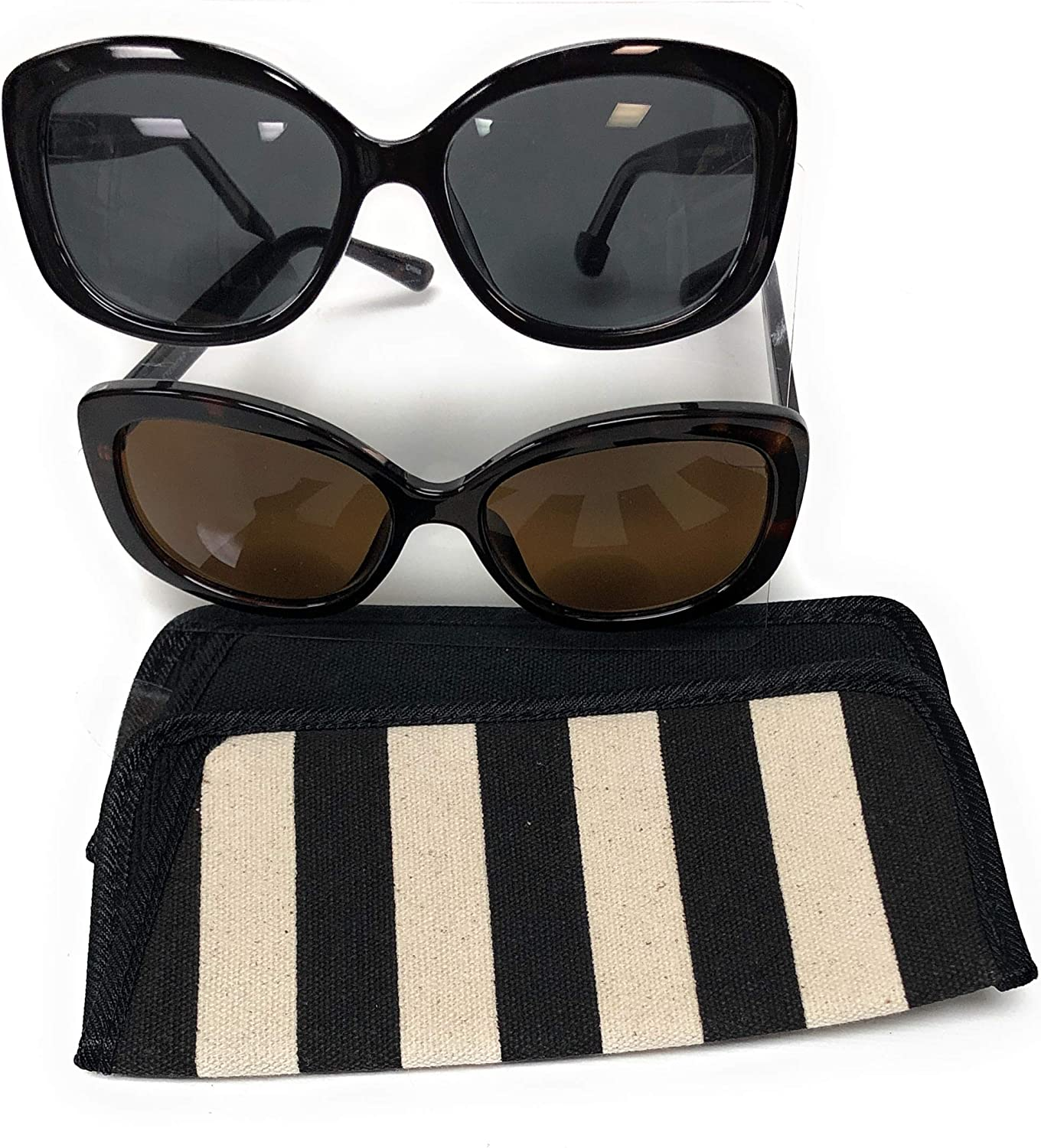 Classic Womens Sunglass Readers Invisible Bifocal Reading Sunglasses with Eyewear Cases +1.25 - +2.75