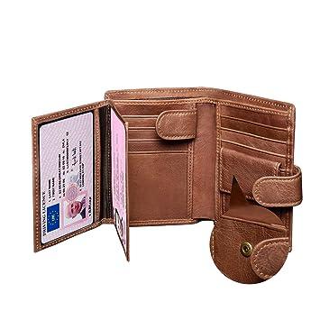 41158c86924a Leather Wallet Mens,Genuine Leather Wallet,Tri-Fold RFID Blocking Men's  Wallets,