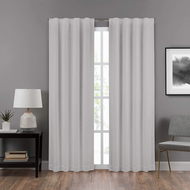 ECLIPSE DraftStopper Room Darkening Curtains for Bedroom - Summit Solid 40