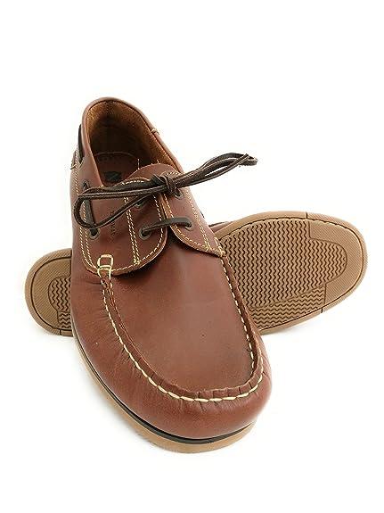 Zerimar Náuticos de Piel para Hombre | Náuticos Hombre Verano | Zapatos Náuticos Hombre | Mocasines