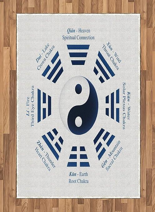 ABAKUHAUS Yin Yang Alfombra de Área, Trigramas del I-Ching ...