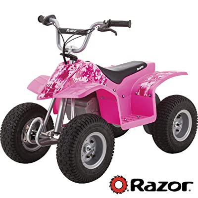 Razor Dirt Quad Electric Four-Wheeled Off-Road Vehicle - Pink : Sports & Outdoors