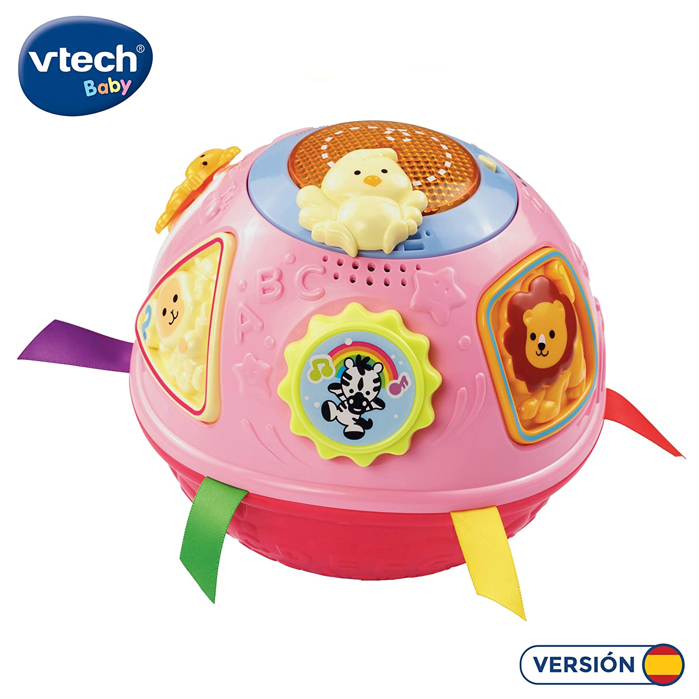 VTech - Rueda la Bola, Pelota interactiva Que Gira y estimula el Gateo, enseña números, Figuras y el Nombre de los Animales y Sus Sonidos, más de 45 ...