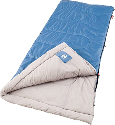 Coleman Sun Ridge 40 F Warm Weather Sleeping Bag, Blue