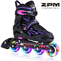 2PM SPORTS Vinal Girls Adjustable Inline Skates w/ Light up Wheels
