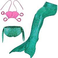 Lee Little Angel Chica Brillante Sirena Cola Bikini Juego Conjunto