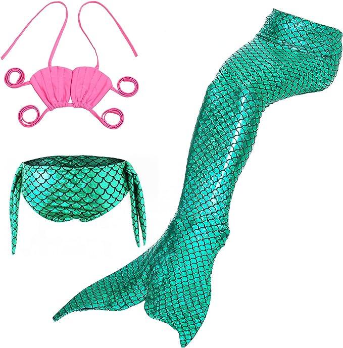 Amazon.com: KABETY - Juego de 3 bañadores de sirena para ...