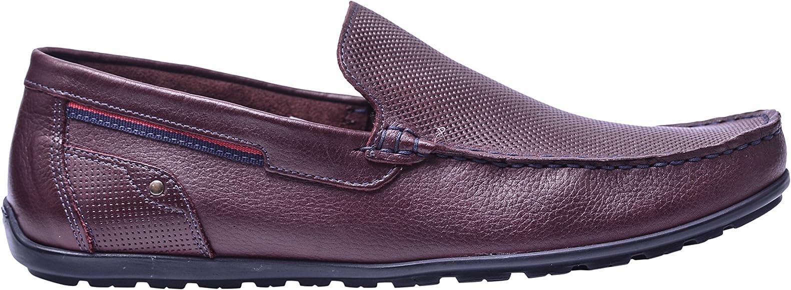 mens burgundy slip on shoes