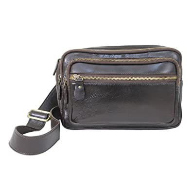 c4d9f8177deb Amazon.com: NOVICA Dark Brown Leather Waist Pack, Let's Walk': Shoes
