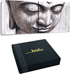 JUUL Fine Art Giclee WHITE BUDDHA by, 24x12inch double panel, 12x12inch per panel,