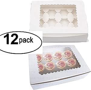 Caja para cupcakes con inserto para ventanas, cajas de panadería ...