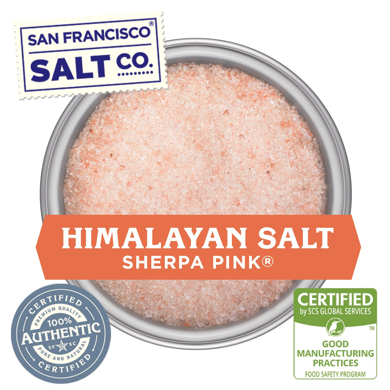 Stackable Salt Shakers – HOME CHEF HERO GIFT SET – Sherpa Pink Himalayan Salt, French Grey Sea Salt, Hickory Smoked Sea Salt, Black Truffle Sea Salt, Pacific Sea Salt, Lemon Rosemary Sea Salt by San Francisco Salt Company (Image #1)