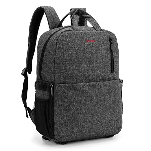 a2f8b45b6c Amzbag Camera Backpack SLR DSLR Camera Bag Outdoor Bag With 15.6 Inch Laptop  compartment Include Removable Camera Organizer