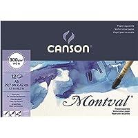 Bloco Canson Montval 300 g/m² Textura Fina com 12 folhas formato A3