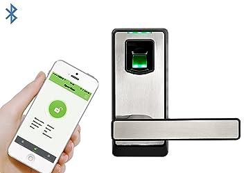 zkteco bluetooth fingerprint biometric smart door lock keyless home entry with your smartphone