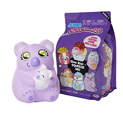 Squishy Jumbo Toy, Squish-Dee-Lish Squishies - Slow Rising Koala W/Baby, Soft Kids Squishy Toys: Toys & Games