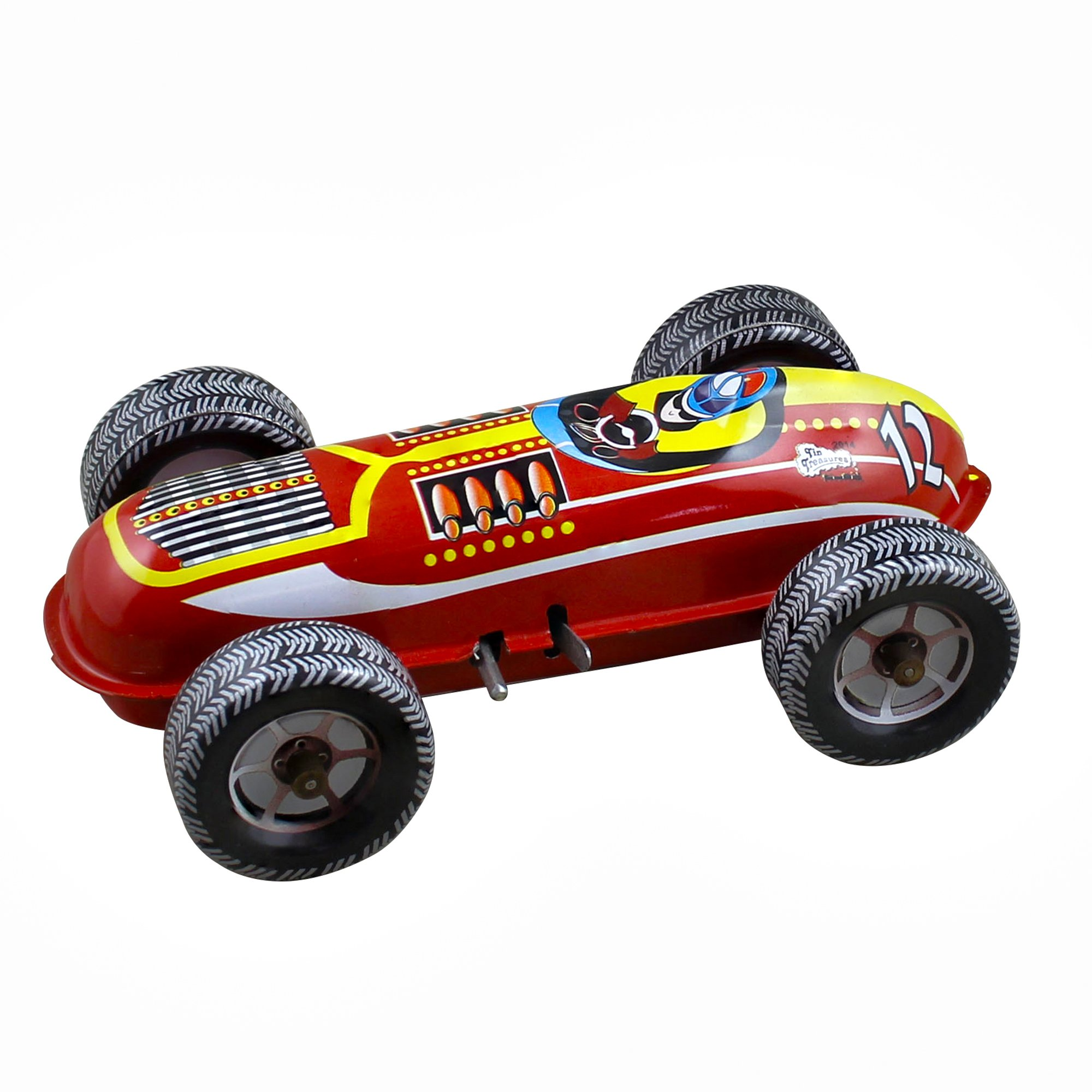 RoyaltyRoute Vintage Wind Up Champion Racer Car Tin Toys Collectibles for Adults - Great Birthday Gift Idea by RoyaltyRoute