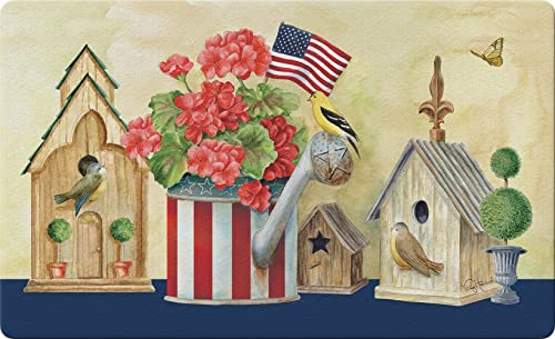 Toland Home Garden 800175 Patriotic Watering Can Doormat, Standard
