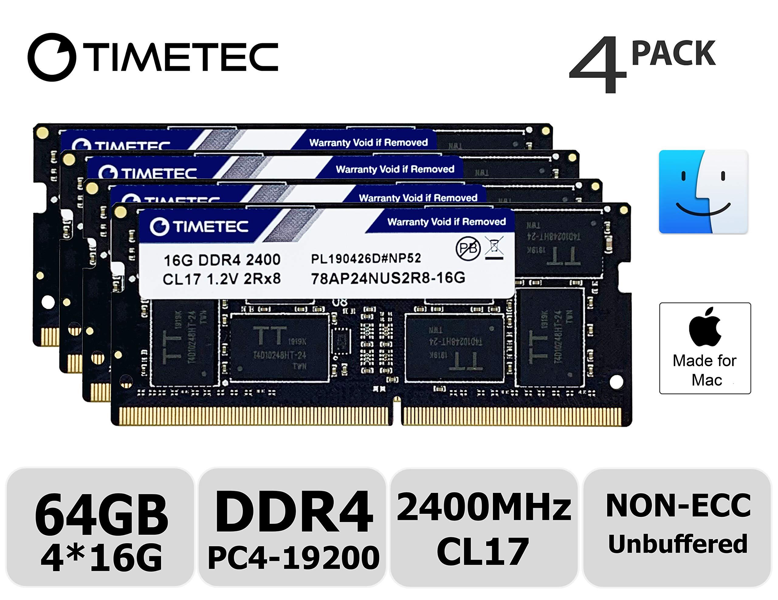 Memoria Ram 64gb Timetec Hynix Ic Kit (4x16gb) Compatible Para Apple 2017 iMac 27-inch W/retina 5k Display Ddr4 2400mhz