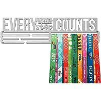 United Medals Every Little Step Counts Medalla Percha | Acero Cepillado (43cm / 48 Medallas) Soporte para Medallas…