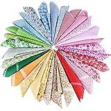(50*50cm) 30 pz Quadratini di Stoffa Tessuti Quadrati Stampati Cotone per Lavoretti Cucito
