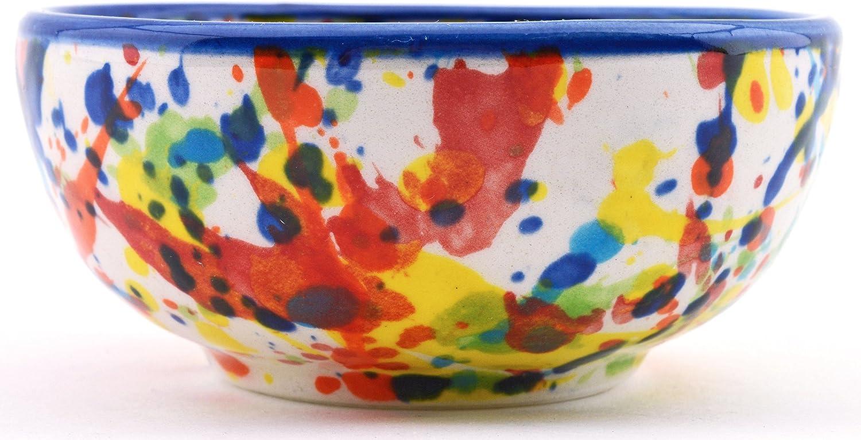 Handmade and Handpainted in IVANROS Blue Decoration Ceramic Bowl 3,54 x 3,54 x 1,77
