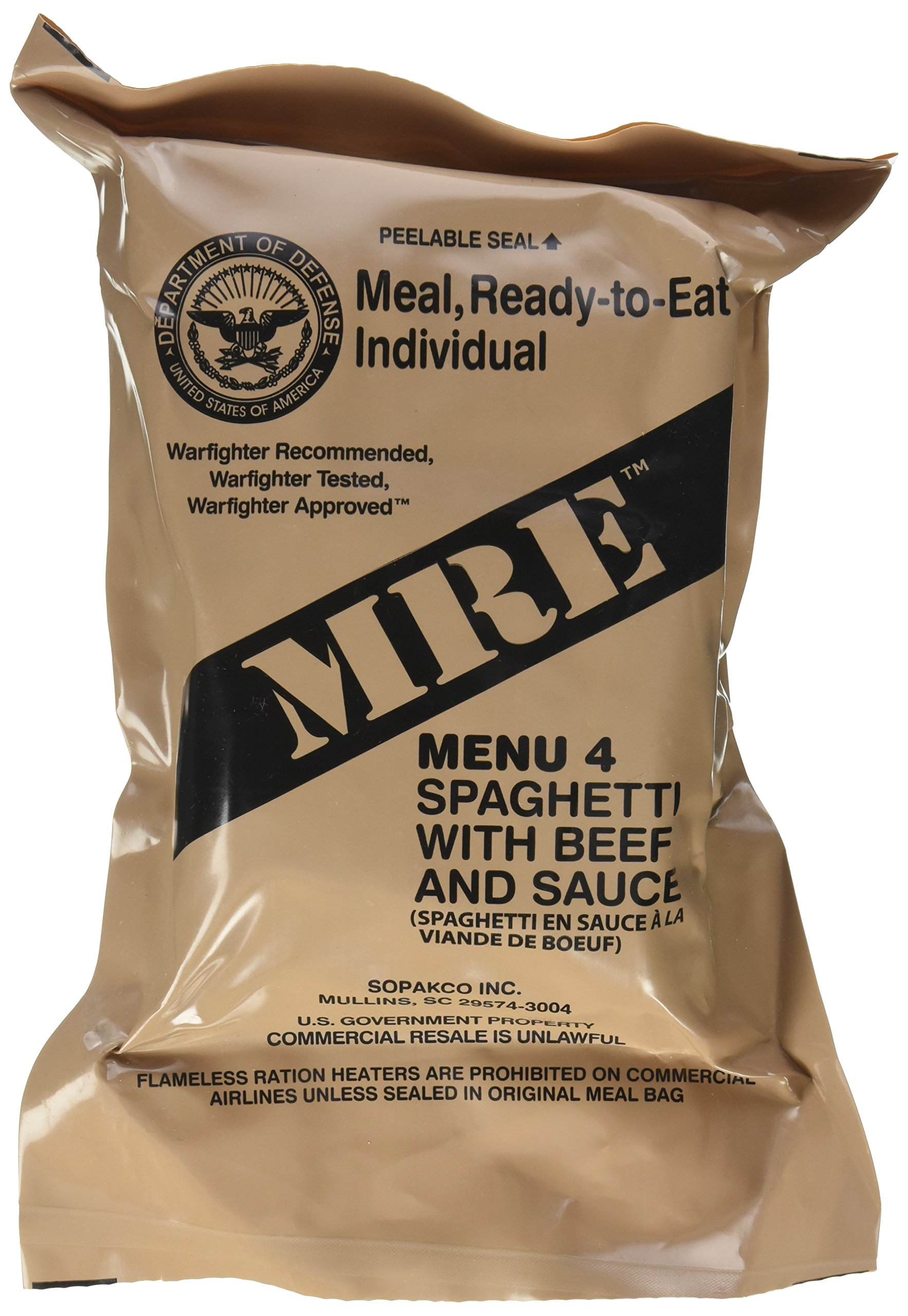 Ultimate 2018 US Military MRE Complete Meal Inspection Date January 2018 or  Newer (Spaghetti with 5f9907d21d