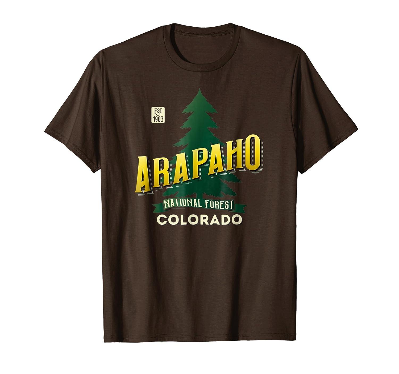 Arapaho National Forest Colorado Retro Logo Shirt-ln
