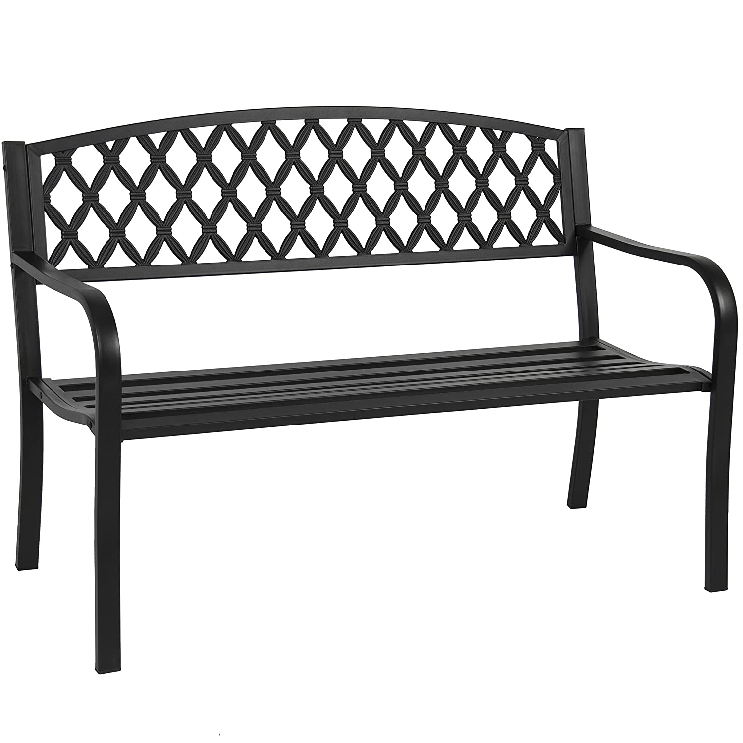 Outdoor benches patio chairs patio furniture the home depot iron outdoor metal garden bench Yard bench