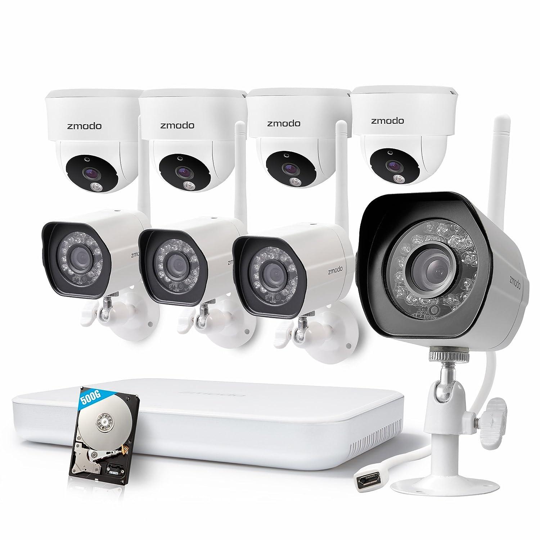 Amazon.com: Zmodo 1080p HD NVR WiFi System 4 HD Outdoor + 4 HD ...