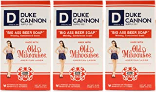 product image for Duke Cannon Supply Co. - Big Ass Beer Soap, Made with Old Milwaukee American Lager (3 Pack of 10 oz) Superior Grade Soap Made with American Lager Old Milwaukee Beer - Woodsy, Sandalwood