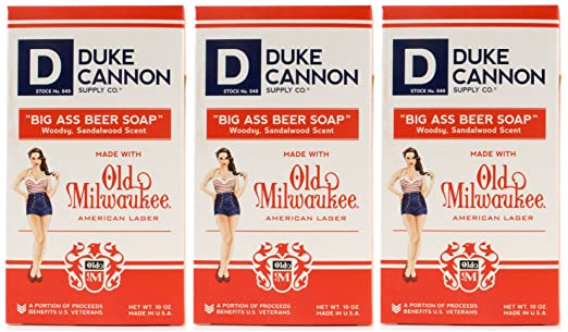 Duke Cannon Beer Soap for Men, 10 oz. in Limited Edition Pin-up Girl Box (3 Pack)