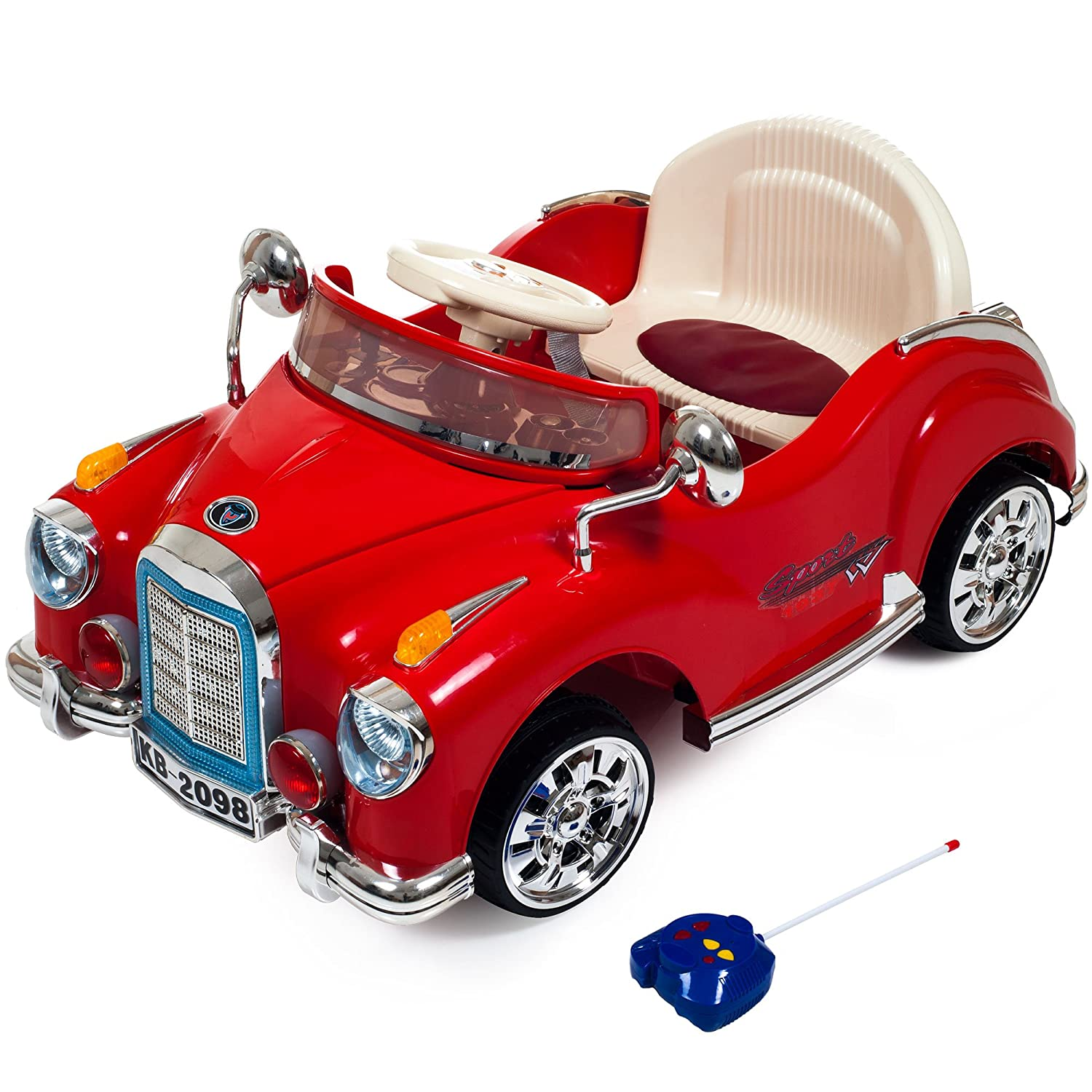 amazoncom ride on toy car battery powered classic car coupe with remote control and sound by lil rider toys for boys and girls 3 year olds and up