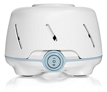 Marpac Dohm (White/Blue) | The Original White Noise Machine | Soothing Natural Sound from a Real Fan | Noise Cancelling | Sleep Therapy, Office Privacy, Travel | For Adults & Baby | 101 Night Trial sleep habits for babies - 81rvl3G3FTL - Sleep habits for babies – Sleep Gadgets to help your baby fall asleep