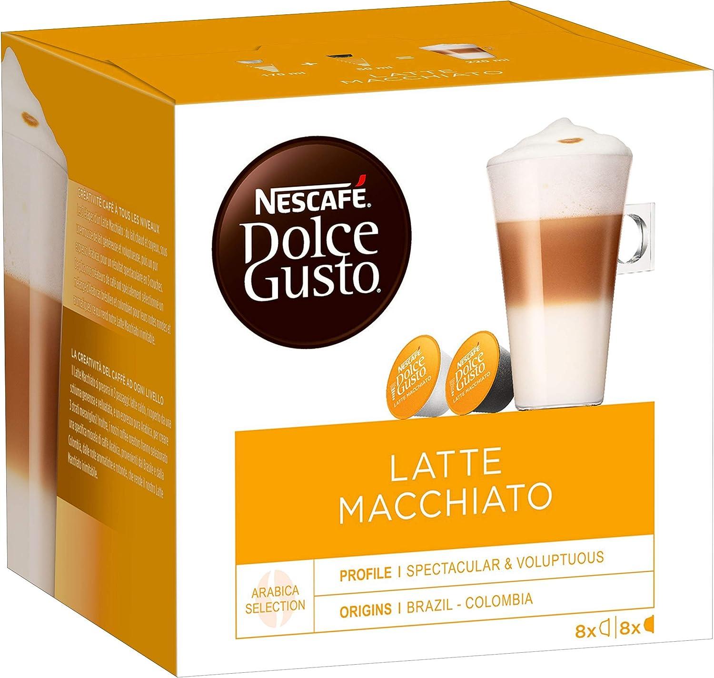 Nescafe Dolce Gusto Latte Macchiato (Pack de 6), 6 x 16 Monodosis ...