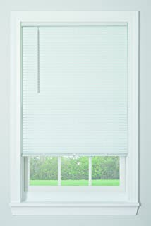 project source blinds mounted outside window bali blinds 1 amazoncom project source 1in cordless white miniblinds common