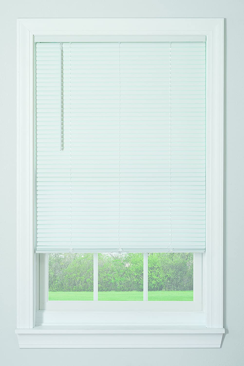 Bali Blinds 1 Cordless Vinyl White, 23x64 Springs Window Fashions 044294 187863