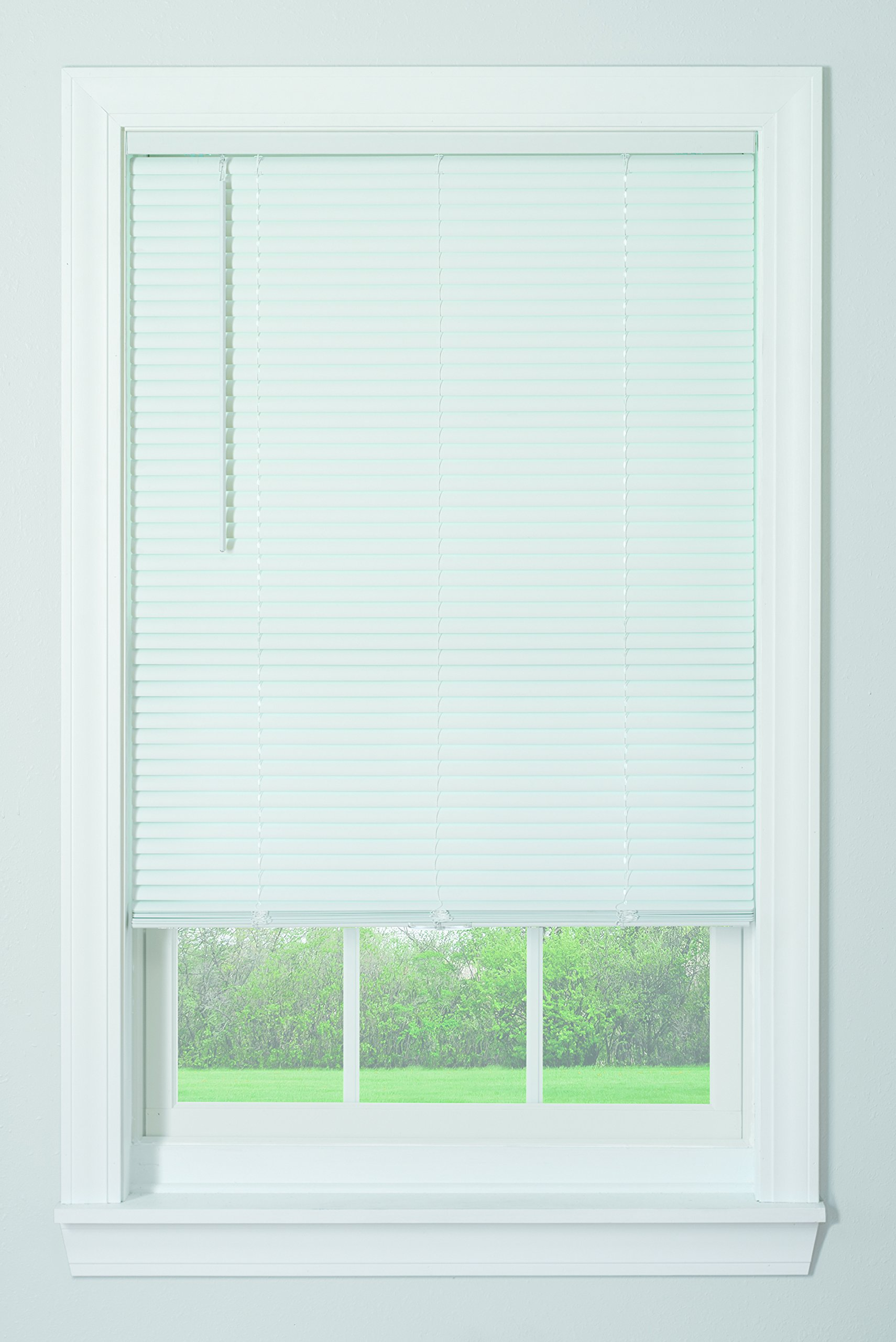 Bali Blinds 1'' Vinyl Cordless Blind, 35'' x 64'', White by Bali Blinds