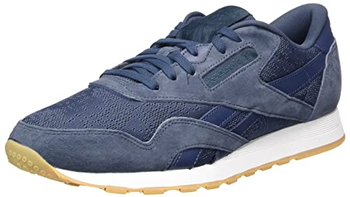a034843b895 Reebok Men s Classic Nylon Hs Gymnastics Shoes Blue (Smoky Indigo White-Gum)