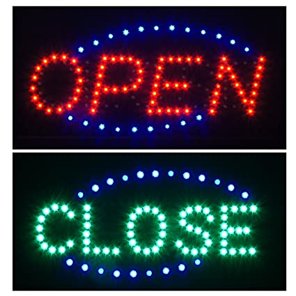 Amazon com: 2 in 1 LED Open Close Store Restaurant Business