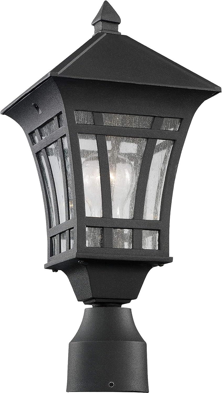 Sea Gull Lighting 82131 12 Herrington Outdoor Post Lantern Outside Fixture One Light Black Outdoor Post Lights Amazon Com