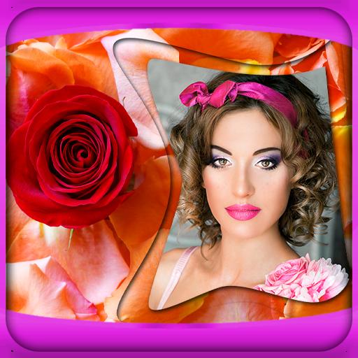 (Rose Flower Photo Frames)
