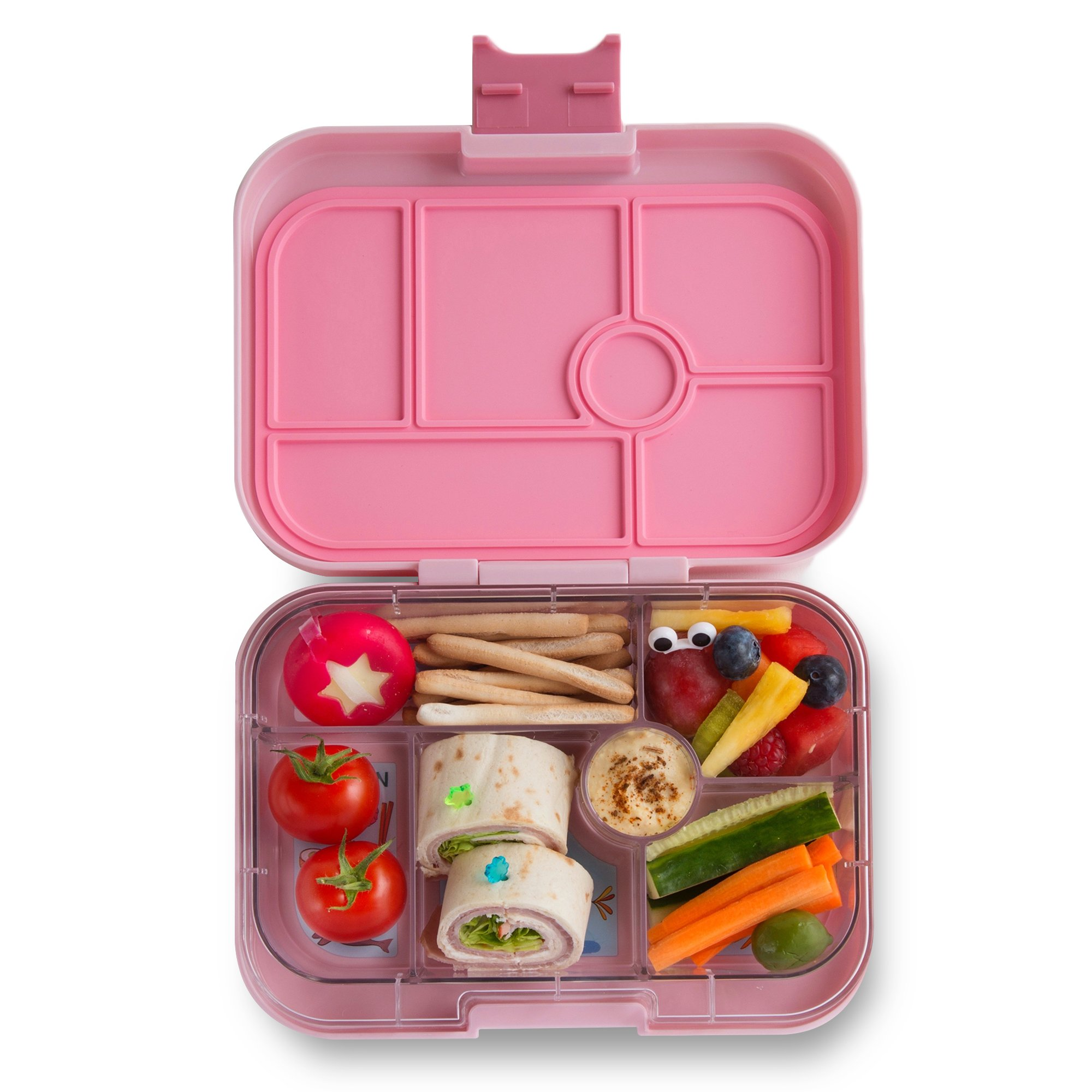 YUMBOX Original (Hollywood Pink) Leakproof Bento Lunch Box Container for Kids: Bento-style lunch box offers Durable, Leak-proof, On-the-go Meal and Snack Packing